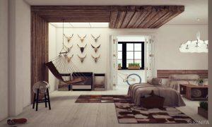дизайн комнаты гостевой